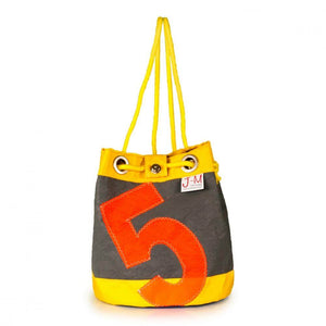 Shoulder bag Charlie, grey, yellow, navy blue (FS) J-M Sails and Bags