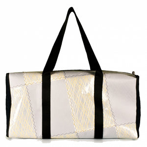 Duffel Bravo Medium, patchwork / kevlar / navy (BS) J-M sails and Bags