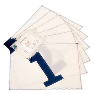 Placemats polykote / blue big 1-6, J-M Sails and Bags