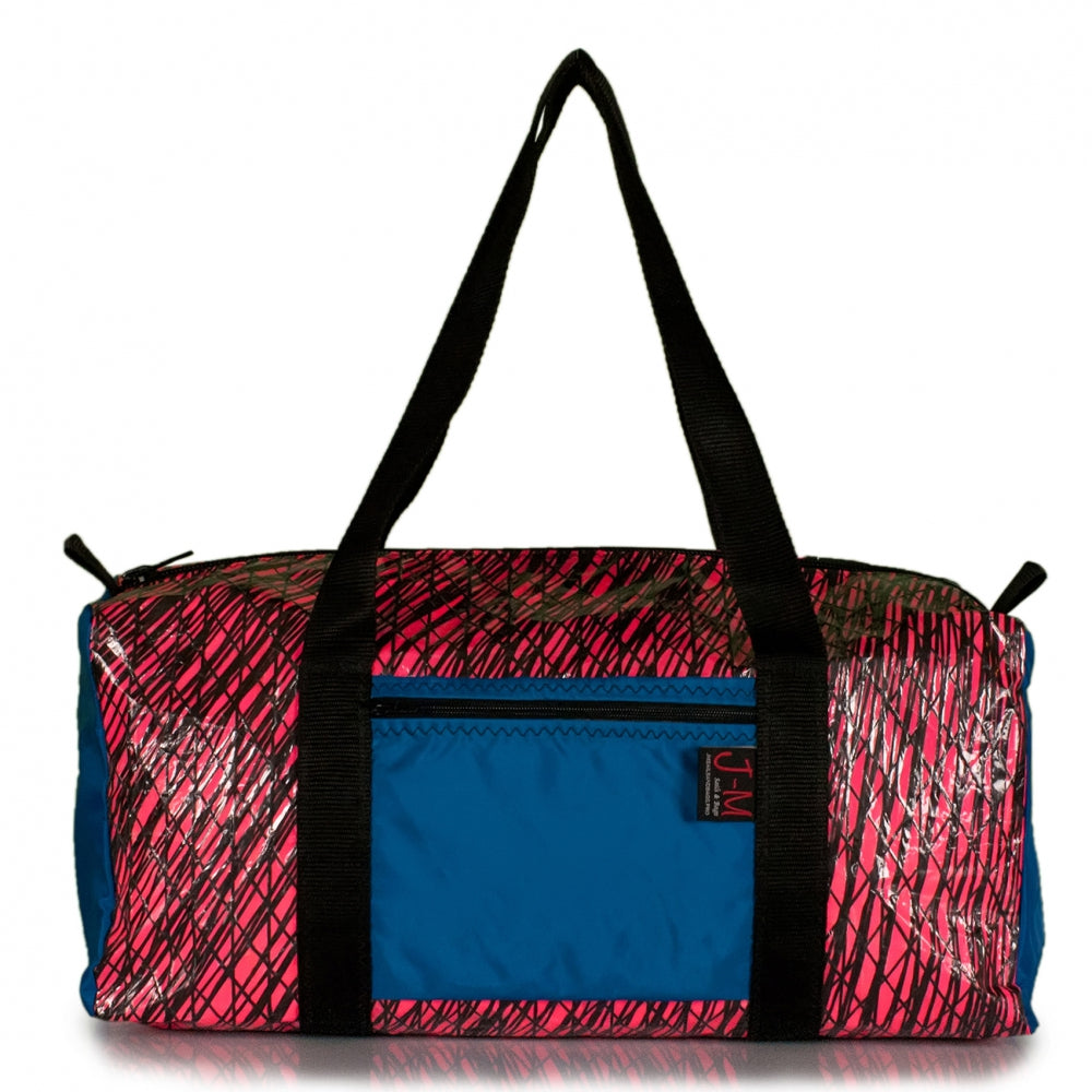 Duffel Bravo Medium, Technora, pink, blue (FS) J-M Sails and Bags