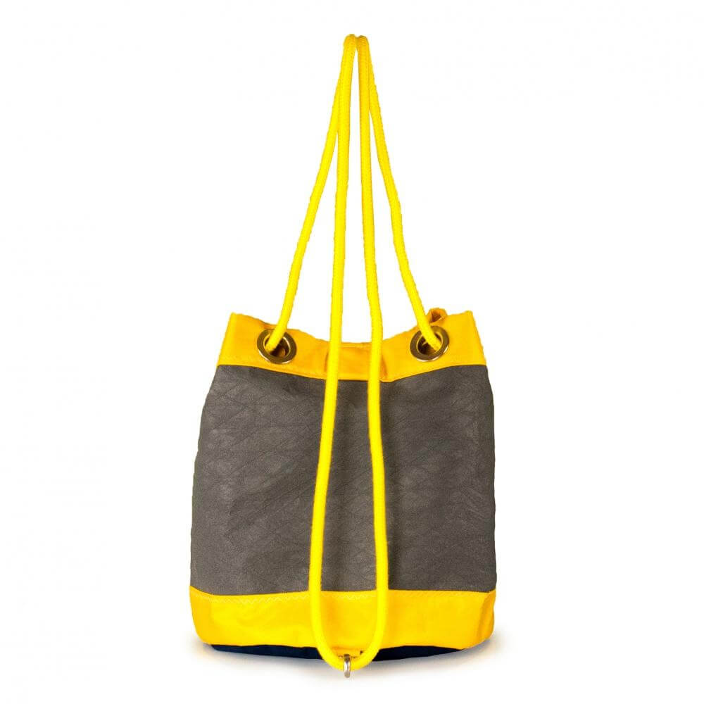 Shoulder bag Charlie, grey, yellow, navy blue (BS) J-M Sails and Bags