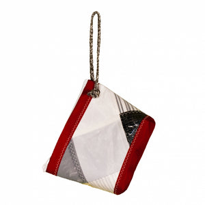 Pouch Hotel, patchwork / red (BS) J-M Sails and Bags