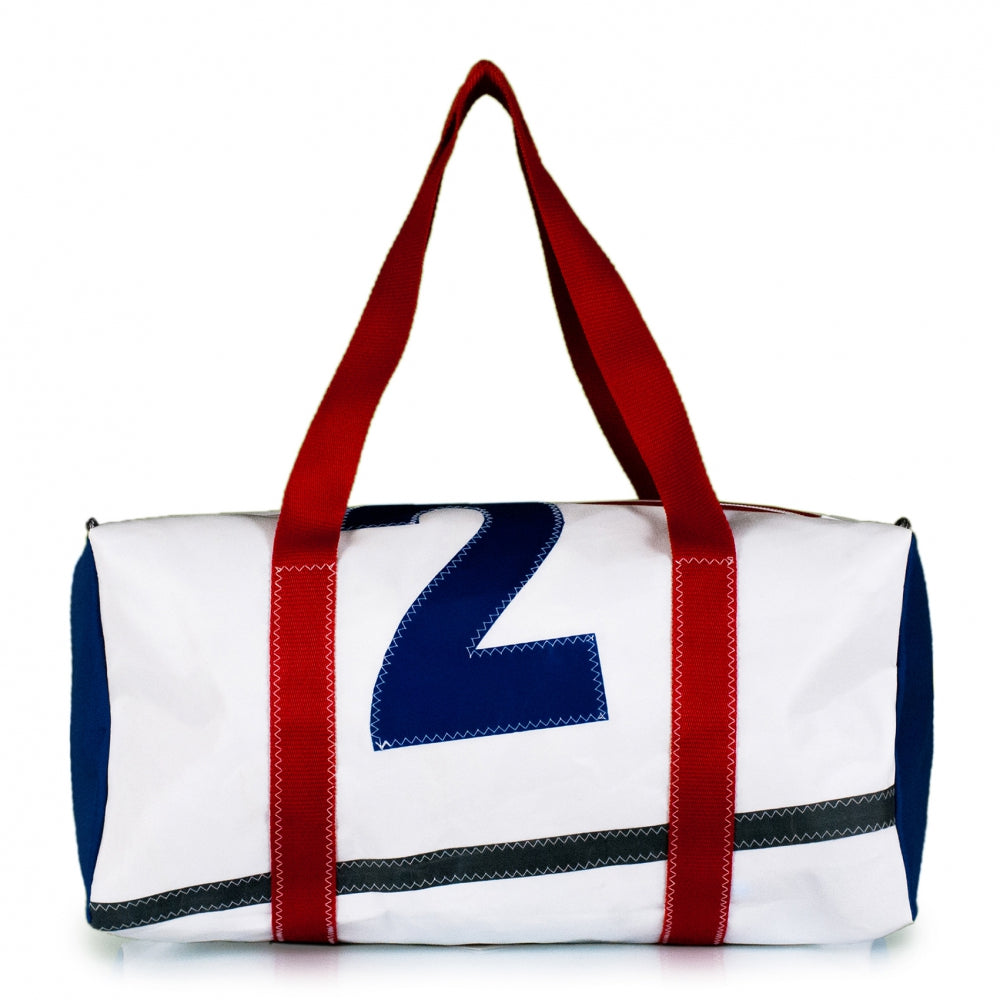 Duffel Bravo Medium. Dacron / blue #2 / grey stripe (BS) J-M Sails and Bags