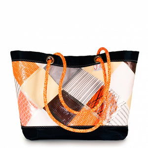 Shopping tote Delta, patchwork / orange (FS) J-M Sails and Bags