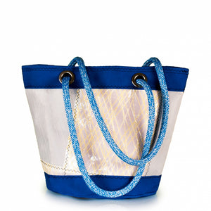 Load image into Gallery viewer, Shoulder bag Lima medium, patchwork / electric blue (BS) J-M Sails and Bags