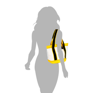 Handbag Tango white and yellow - JM Sails and Bags