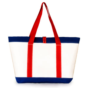 Tote Mike, white and blue (BS) J-M Sails and Bags  Edit alt text