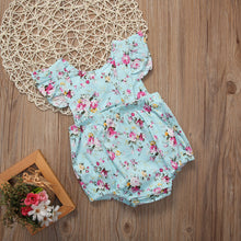 Load image into Gallery viewer, Baby Girl Floral Romper
