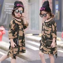 Load image into Gallery viewer, Girls Camo Dress