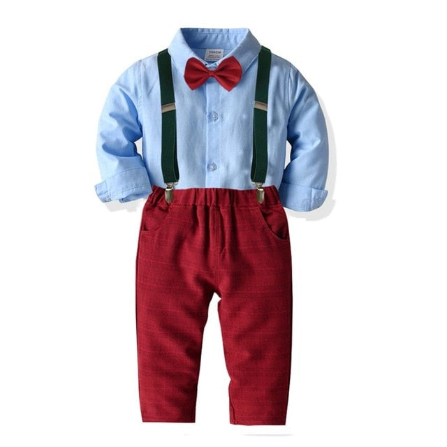 Baby Boy Red Pant and Tie set