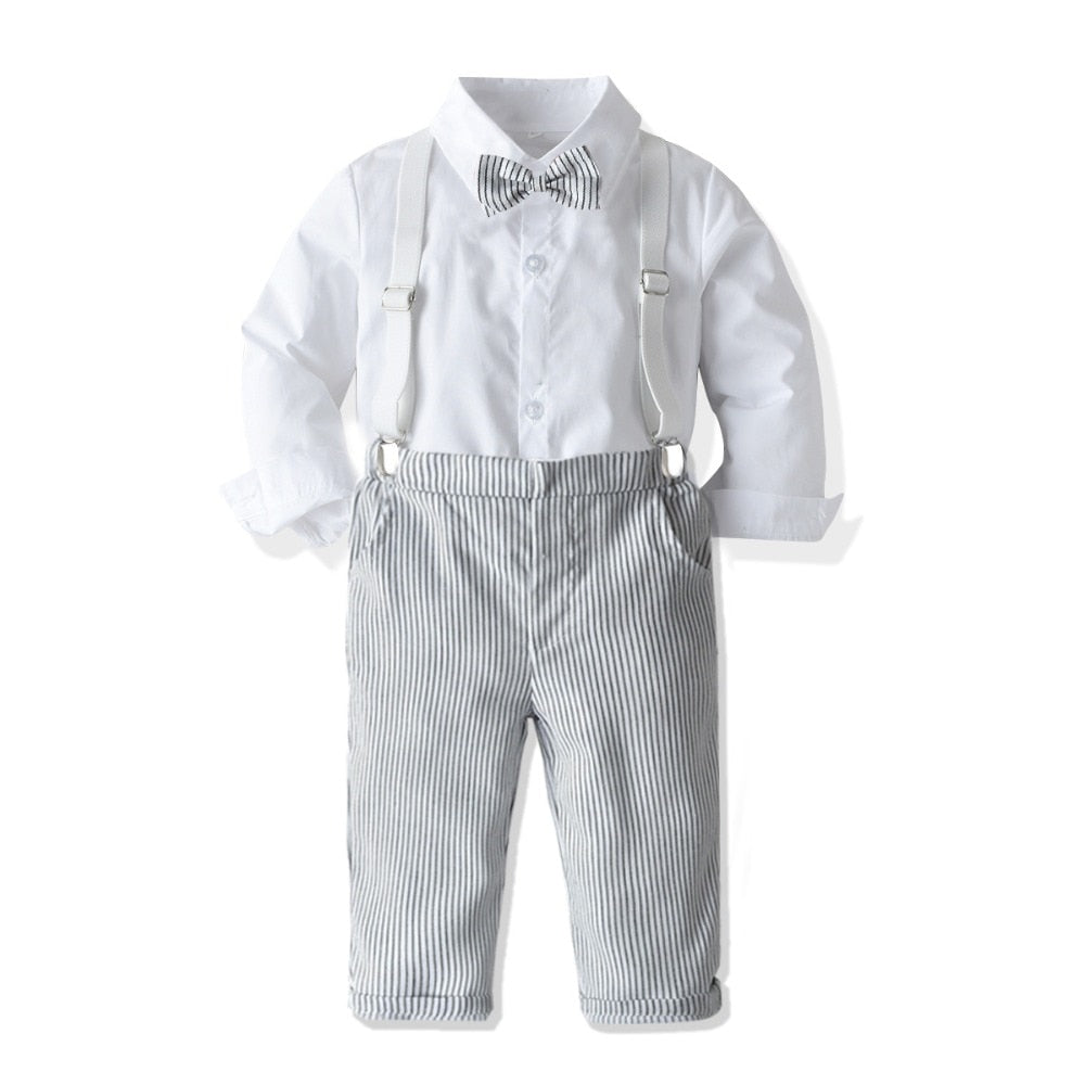 Baby Boy Stripe Pants and Tie set