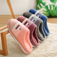 Load image into Gallery viewer, Cotton Slippers Female Winter Home Indoor Thermal Home Autumn And Winter Thick-soled Cotton Slippers Non-slip Plush Slippers Men