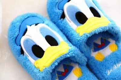 Disney cotton slippers Stitch Pooh Donald Duck three-eyed cartoon home slippers indoor slippers non-slip