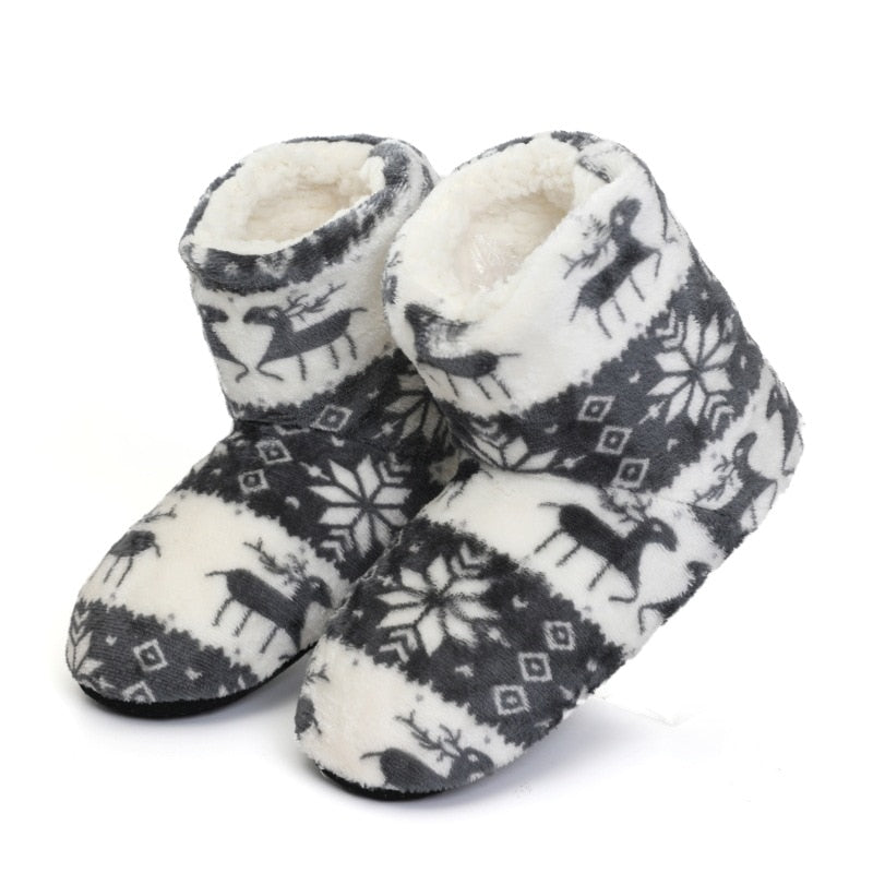 Winter furry slides Women Slippers Warm Plush Flip Flops Christmas Cotton Indoor Home Shoes Floor Shoes Claquette Fourrure 2020
