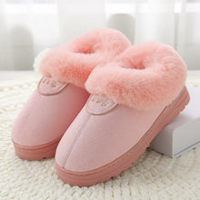 Load image into Gallery viewer, Winter Cotton Slippers Fur Suede Home Warm Plush Indoor Floor Shoes For Couples Lovers Men Women Slippers Cute Fluffy Slippers