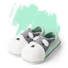 Load image into Gallery viewer, Winter Warm Man & Women Home Slippers Animal Dog Short Plush Slippers Female Non-slip Soft Cotton Indoor Shoes Lovers Slippers