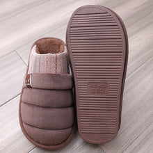 Load image into Gallery viewer, 2020 fashion cotton fabric shoes men fur slides large size 48 49 winter house slippers male velvet shoes