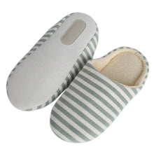 Load image into Gallery viewer, Hot Five Colors Striped Indoor Soft Bottom Cotton Slippers Slippers For Home Shoes Interior Non-Slip Shoes