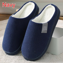 Load image into Gallery viewer, Women Slippers Winter Warm House Home Soft Non-Slip Plush Cotton Shoes Men Lovers Bedroom Ladies Girls Boys Cute Fur Slides