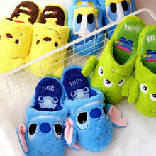 Load image into Gallery viewer, Disney cotton slippers Stitch Pooh Donald Duck three-eyed cartoon home slippers indoor slippers non-slip