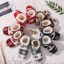 Load image into Gallery viewer, Winter furry slides Women Slippers Warm Plush Flip Flops Christmas Cotton Indoor Home Shoes Floor Shoes Claquette Fourrure 2020