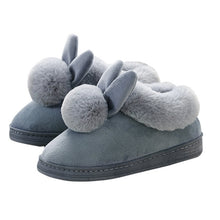Load image into Gallery viewer, 2020 New Fashion Autumn Winter Cotton Slippers Rabbit Ear Home Indoor Slippers Winter Warm Shoes Womens Cute Plus Plush Slippers