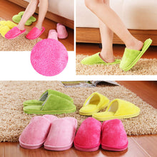 Load image into Gallery viewer, Soft Slippers Shoes Plush Cotton Cute Non-Slip Floor Indoor House Home Furry Slippers Women Men Shoes For Bedroom