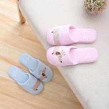 Load image into Gallery viewer, Drop shipping Women's Fuzzy Pink and light blue dog plush cotton Slippers slip on Dachshund plush slippers