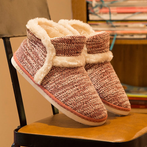 2020  Winter Women Slippers Cotton Home Shoes Couples Lovers Wool Warm Plush Indoor Floor Slippers Non-slip Men Soft Shoes