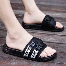 Load image into Gallery viewer, Best Selling Men Flats Slippers Good Quality Men Rubber Beach Slippers Brand Men Slides Flip Flops Cotton Fabric Summer Slippers