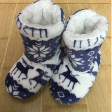 Load image into Gallery viewer, Winter Fur Slippers Women Warm House Slippers Plush Flip Flops Christmas Cotton Indoor Home Shoes Floor Shoes Claquette Fourrure