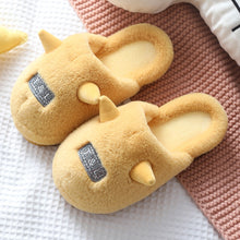Load image into Gallery viewer, Indoor Home Slippers Cotton Fabric Slippers Home Slippers Floor Slippers for Women Winter Slippers Couple House Shoes Slippers