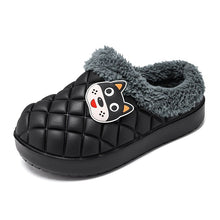 Load image into Gallery viewer, Children's winter warm waterproof cotton slippers cute baby boys and girls shoes thick-soled indoor shoes