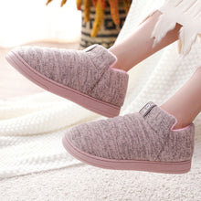 Load image into Gallery viewer, Womens And Men House Shoes Warm Slippers Cotton Home Shoes Comfortable Plush Lining Slip-on Cozy House Shoes Indoor