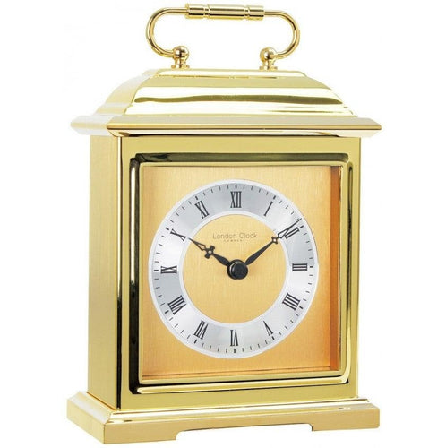 Solid Brass Heavy Metal Traditional Carriage Mantel - Mantle Clock by London Clock Company