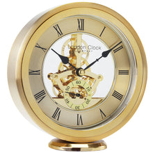 Load image into Gallery viewer, Traditional Skeleton Gold Mantle Clock