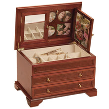 Load image into Gallery viewer, Mele & Co Extra Large Memories Jewellery Box with Printed Inlay