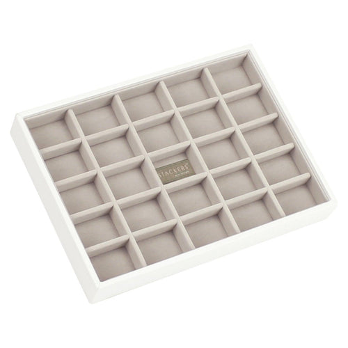 White PREMIUM  Stackers Jewellery Box small compartment tray