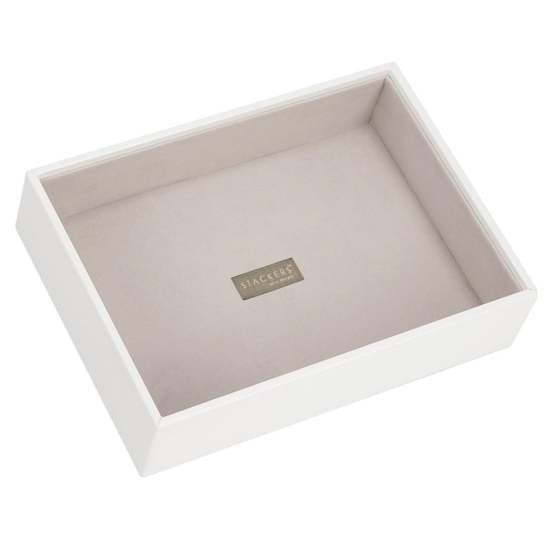 White PREMIUM Stackers Jewellery Box Deep Open Tray