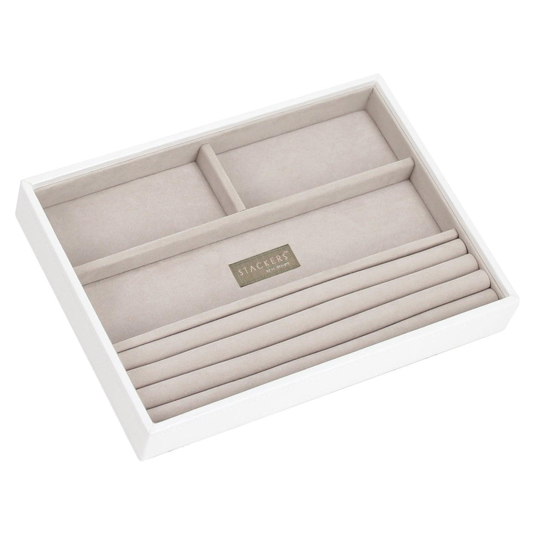 White Premium Stackers Jewellery Box Rings layer Tray