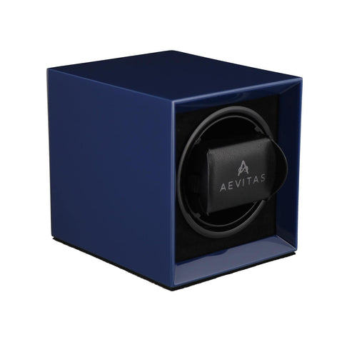 Watch Winder for 1 Automatic Watch in Blue Mains or Battery by Aevitas Gifts in Time