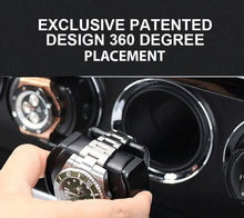 Load image into Gallery viewer, 3 Watch Winder in Carbon Fibre Finish by Aevitas Gifts in Time