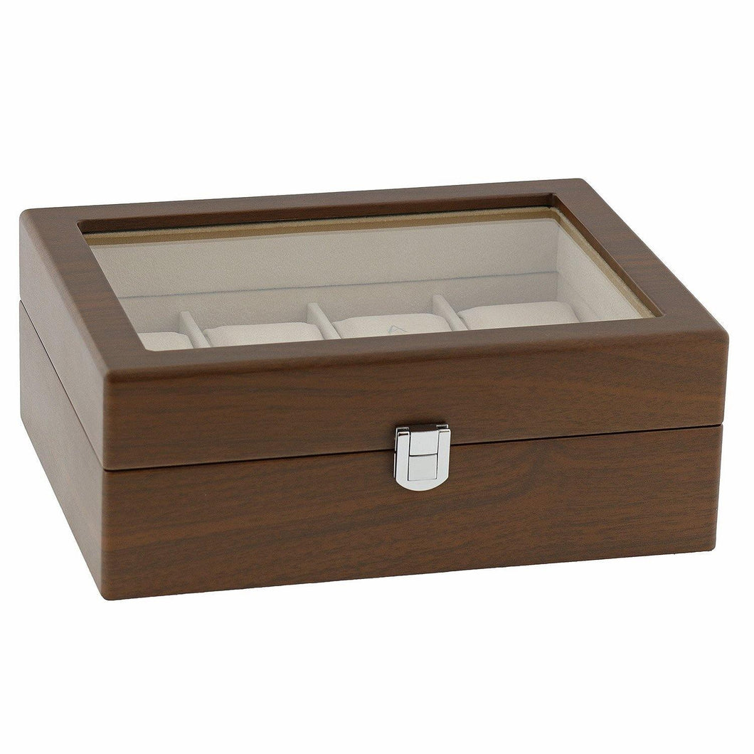 Natural Walnut Watch Collectors Box for 8 Wrist watches by Aevitas