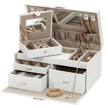 Load image into Gallery viewer, Rosie White Large Leatherette Jewellery Box by Mele & Co