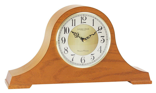 Traditional Oak Napoleon Mantle Clock by the London Clock Company