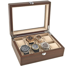 Load image into Gallery viewer, Natural Walnut Watch Collectors Box for 8 Wrist watches by Aevitas