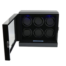 Load image into Gallery viewer, The Fortis Range New Robust Watch Winder for 6 Watches  Carbon Insert by Aevitas