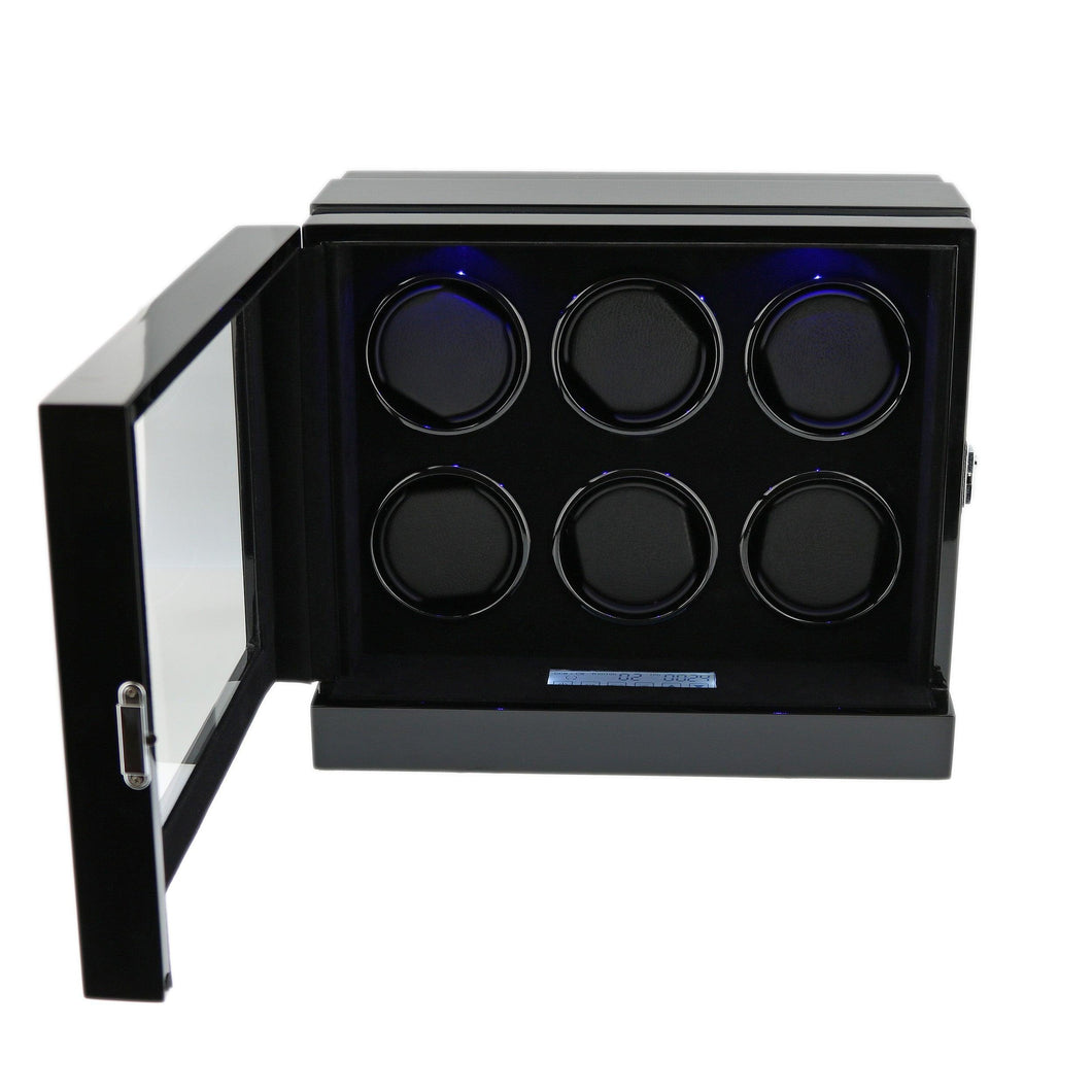 The Fortis Range New Robust Watch Winder for 6 Watches  Carbon Insert by Aevitas