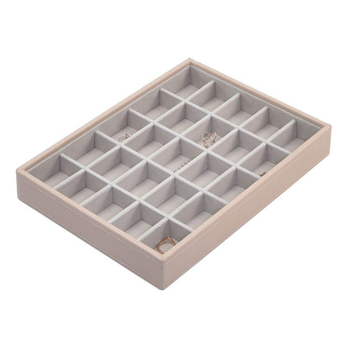 Blush Pink Classic Size Stackers Jewellery Box 25 small compartment tray