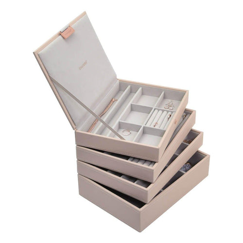 Blush Pink Classic or Medium Size Stackers Set of 4 Jewellery Box Trays